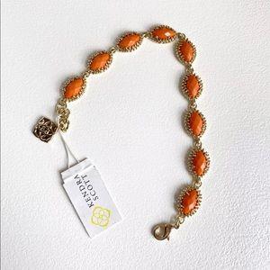 ✨🆕Kendra Scott Jana Gold Orange Bracelet